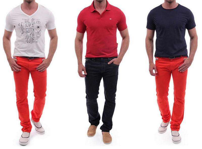 Looks Vermelho Homens (1)