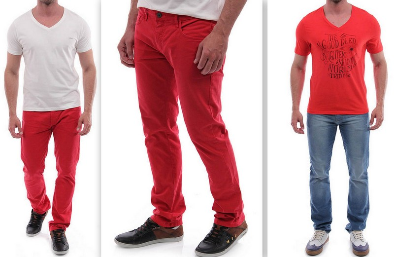 Looks Vermelho Homens (3)