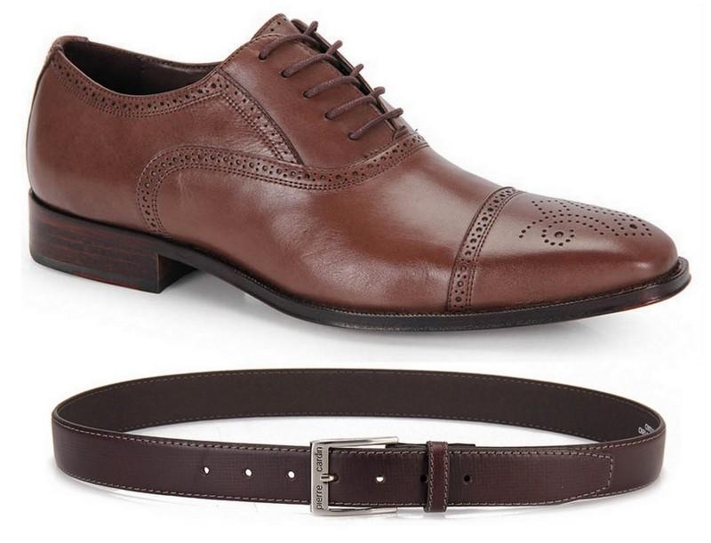 Sapato Cinto Marrom