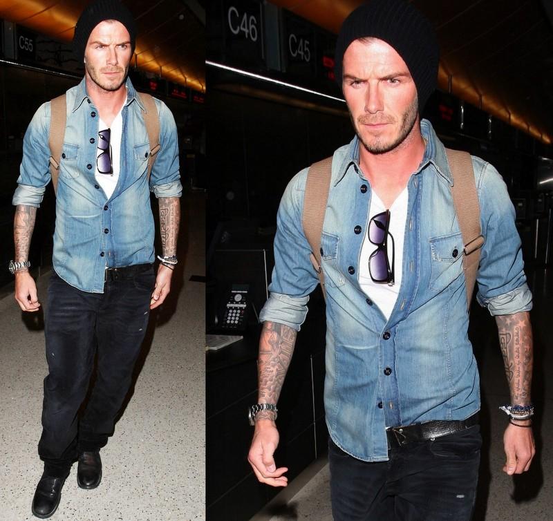 David Beckham Camisa Jeans