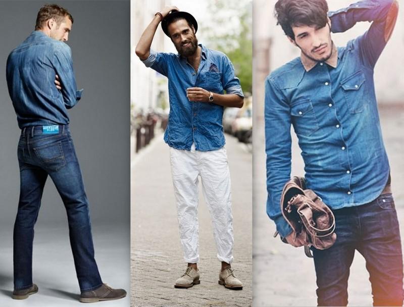 Resultado de imagem para moda masculina camisa jeans