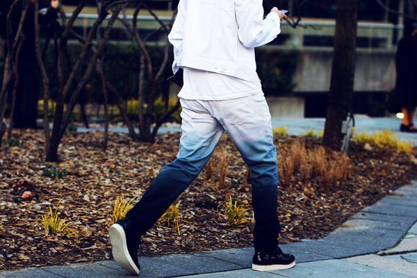 Moda Dip Dye Homem