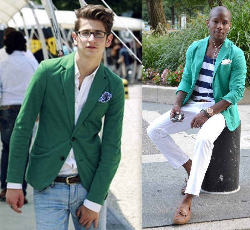 Homens Blazers Coloridos (1)