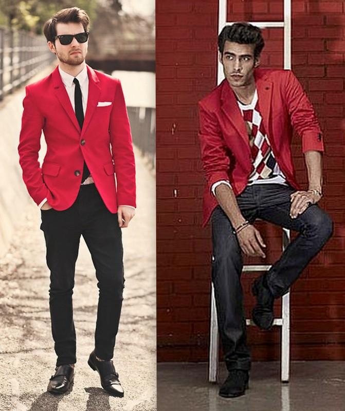 Homens Blazers Coloridos (2)
