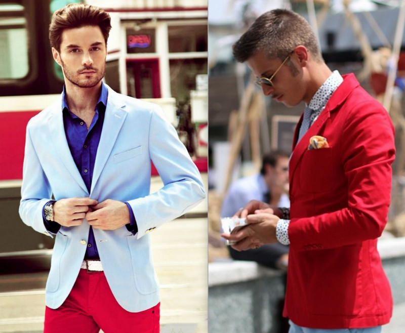 Homens Blazers Coloridos (3)