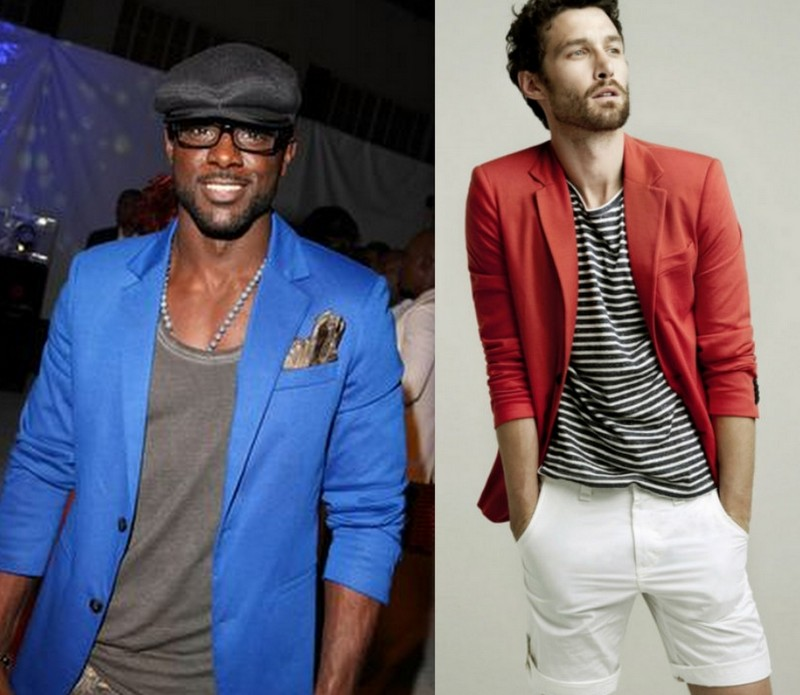 Homens Blazers Coloridos (4)