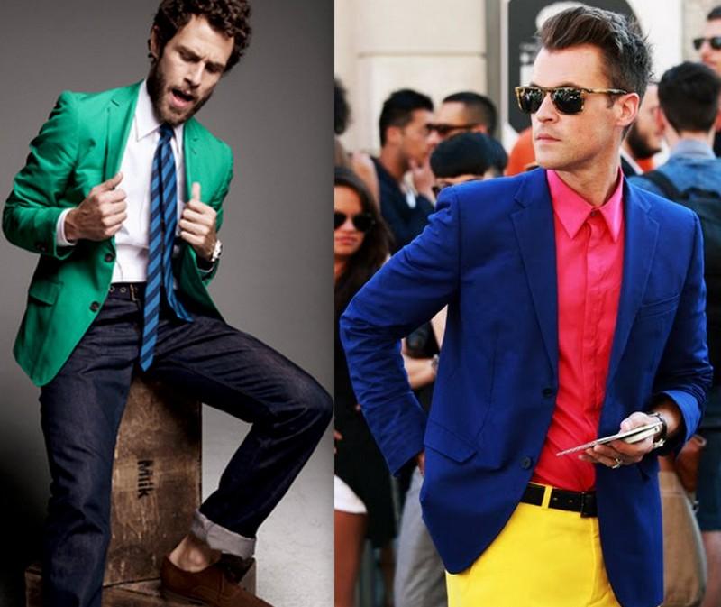 Homens Blazers Coloridos (5)