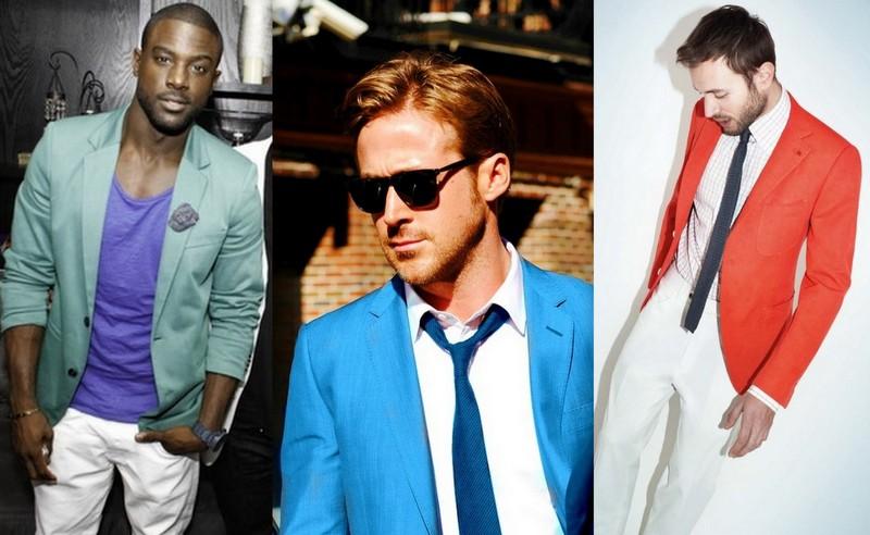 Homens Blazers Coloridos (6)