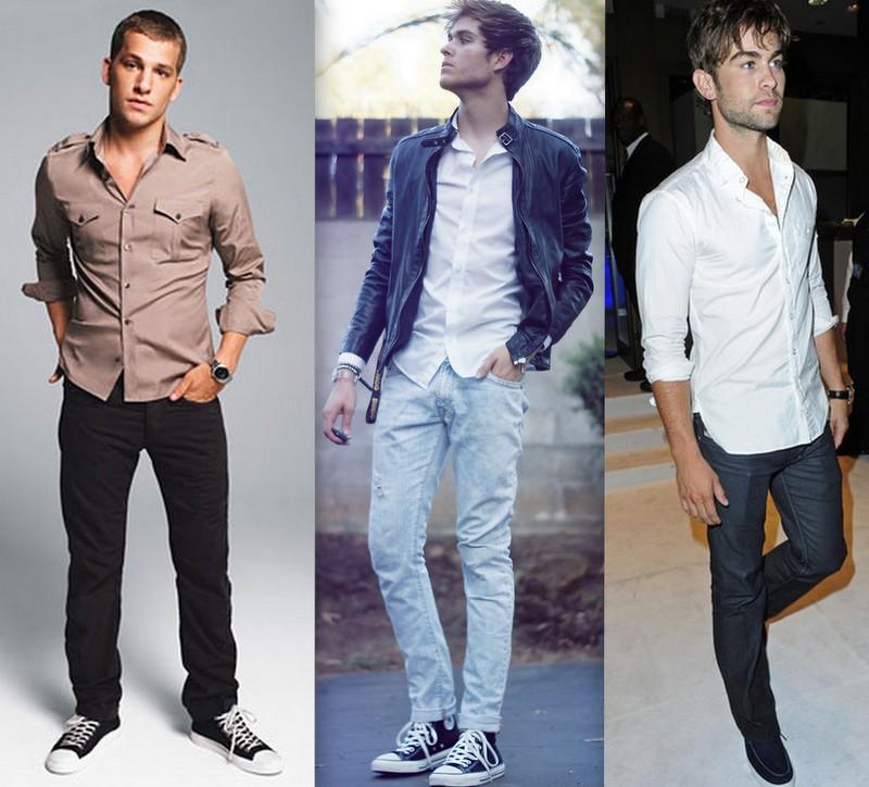 81684b495 Como usar camisa social com calça jeans  camisa para dentro ou para fora