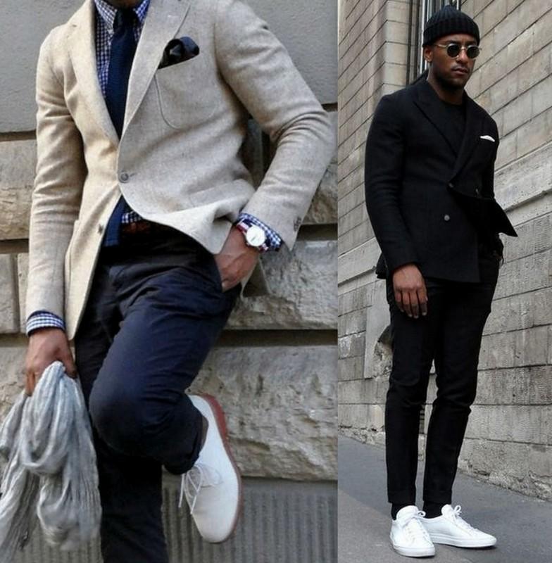 Homens sapatos Brancos (1)
