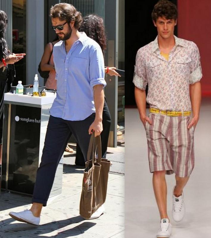 Homens sapatos Brancos (2)