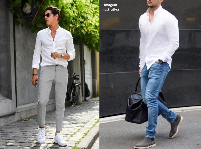 Como usar camisa social com calça jeans: camisa para dentro ou para fora?