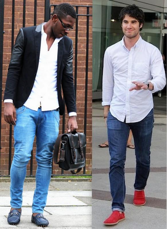 Resultado de imagem para camisa branca e calça jeans masculino look
