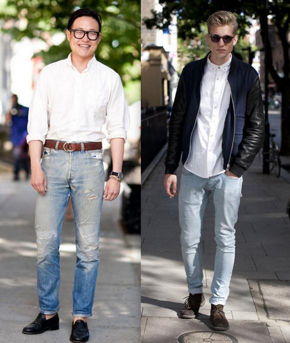 Homens Jeans Claro (1)