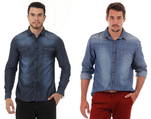 Camisas Jeans Masculinas (1)
