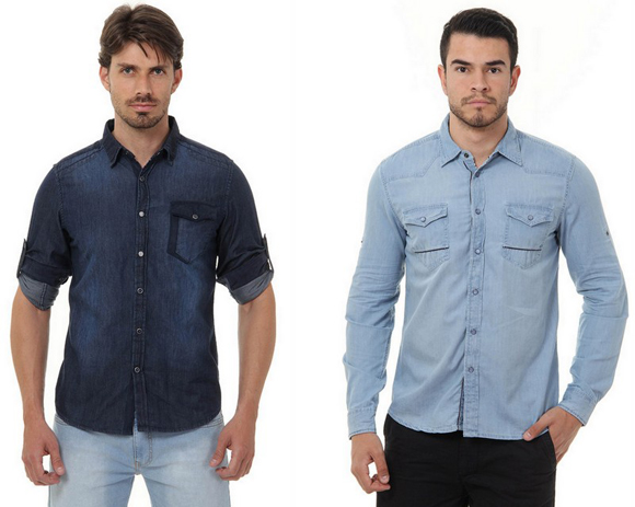 Camisas Jeans Masculinas (3)