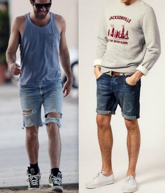 Looks Homens Bermuda Jeans (10)