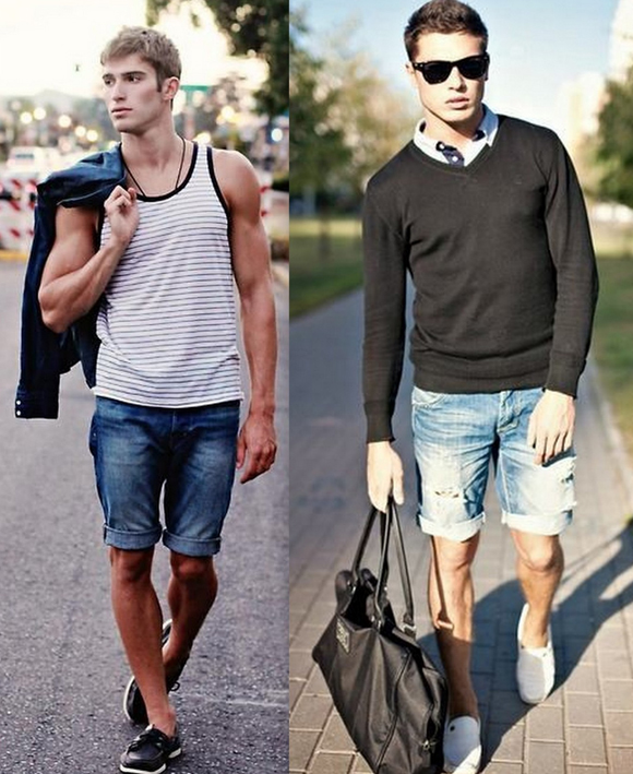 Looks Homens Bermuda Jeans (12)