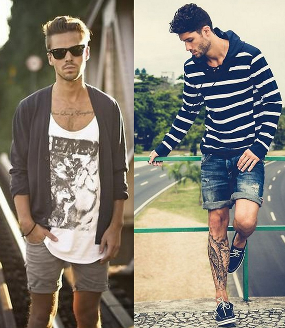 Looks Homens Bermuda Jeans (4)