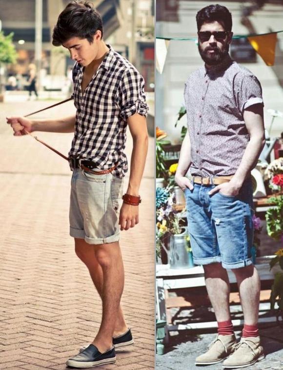 Looks Homens Bermuda Jeans (5)