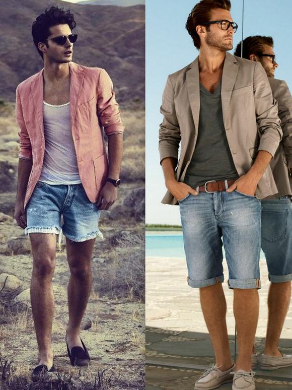Looks Homens Bermuda Jeans (6)