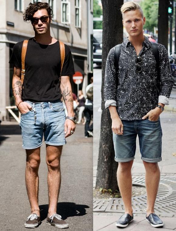 Looks Homens Bermuda Jeans (8)
