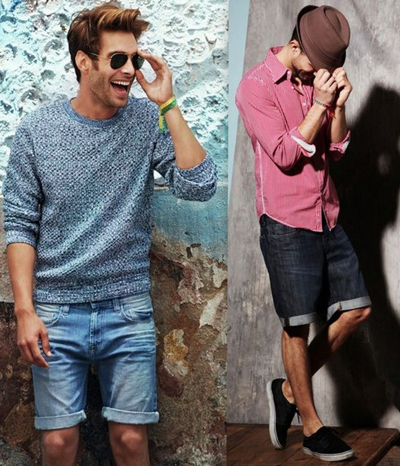 Looks Homens Bermuda Jeans (9)
