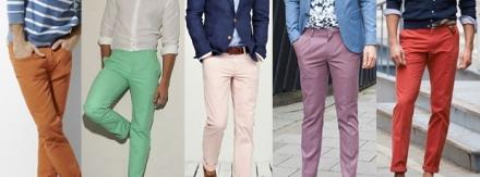 Saiba como usar calça de sarja masculina colorida