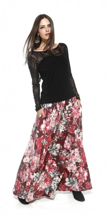 1 peça = 3 looks: Saia Longa Floral