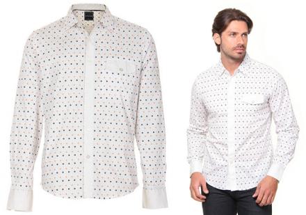 1 peça = 3 looks: Camisa com Estampa Geométrica