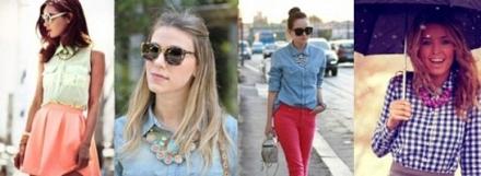 Truque de estilo: Maxi colar para roupas básicas