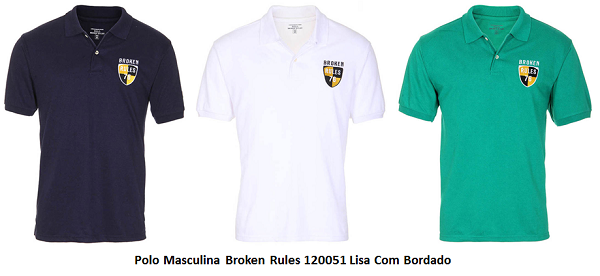 polo masculina broken rules