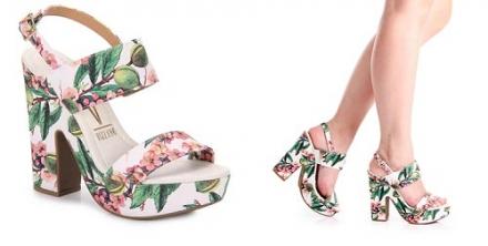 1 peça = 3 looks: Sandália Floral