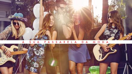Campanha de Alto Verão da Passarela traz time de estrelas em clima de festivais musicais