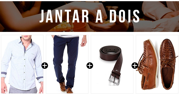 look masculino jantar a dois