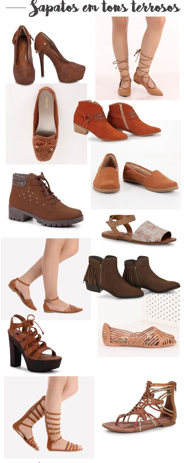 Boho Sapatos em tons terrosos