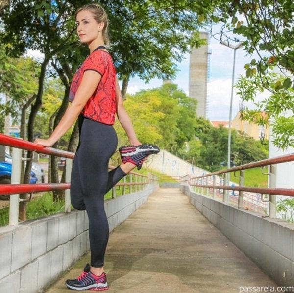Look Exercícios ao ar livre no verão