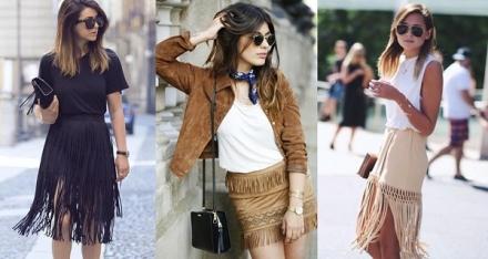 Street Style: Saia de franjas