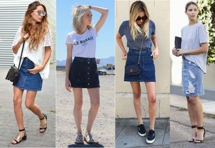 Street Style: Saia jeans