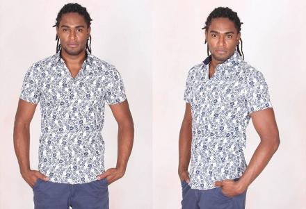 1 peça = 3 looks: Camisa floral manga curta