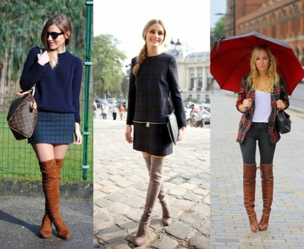 Street Style: Bota over the knee caramelo
