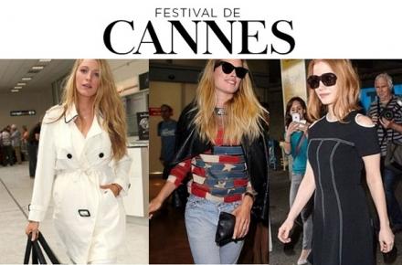 O que as celebridades vestem no voo para ir ao festival de Cannes
