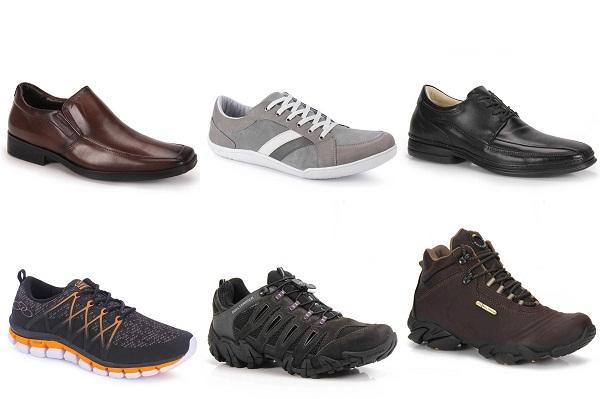 calçados masculinos tamanho grande