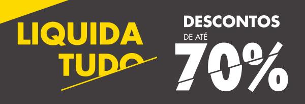 Peças 'tem-que-ter' com até 70% de desconto no Liquida Tudo Passarela!