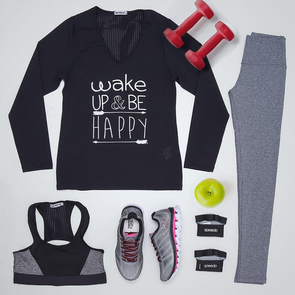 Roupas e tênis academia e fitness feminino