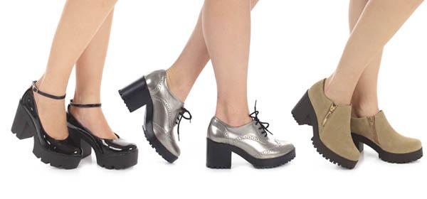 Sapato solado tratorado