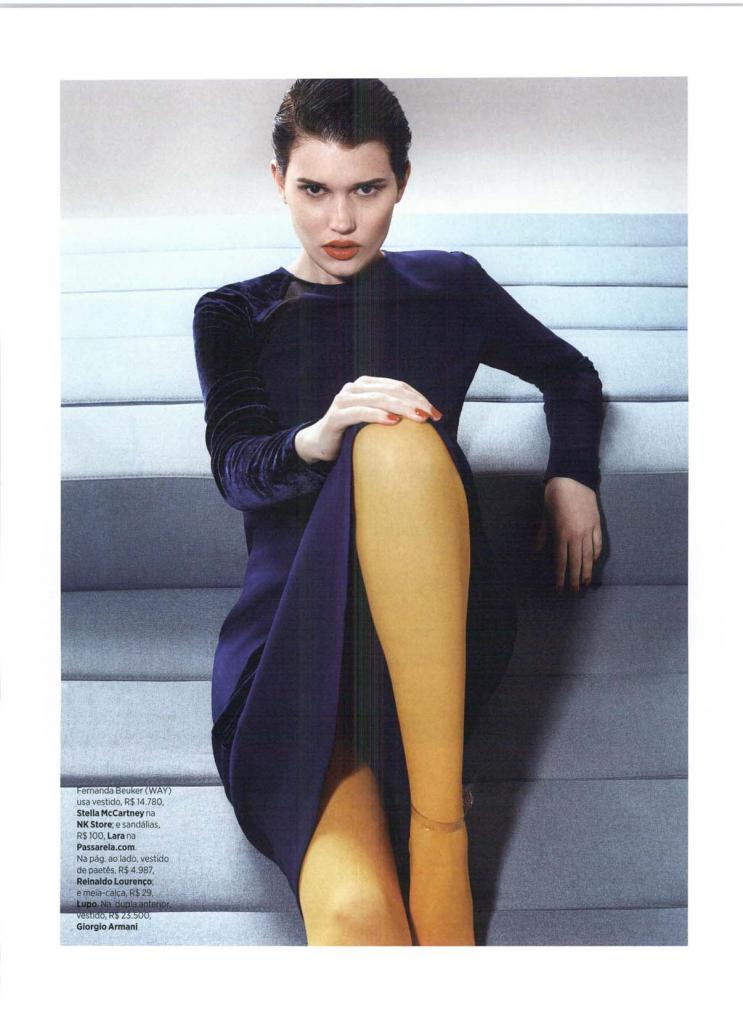 Passarela na Harper's Bazaar