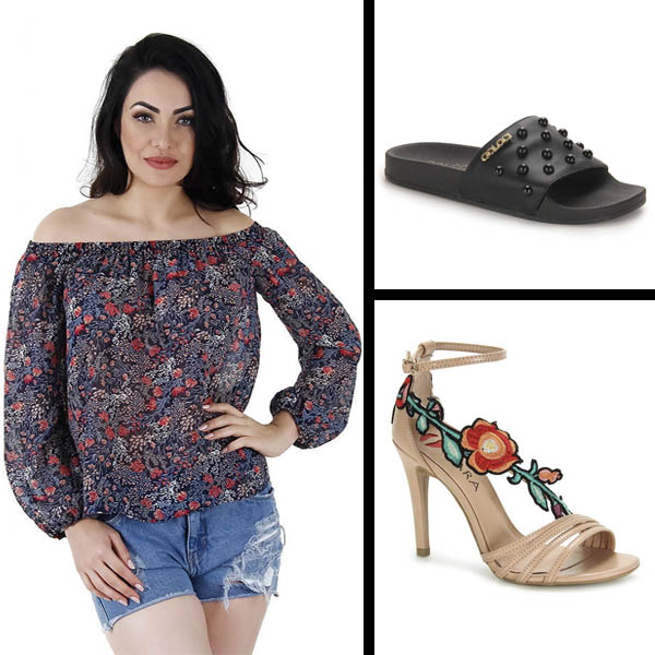 Calçado Floral