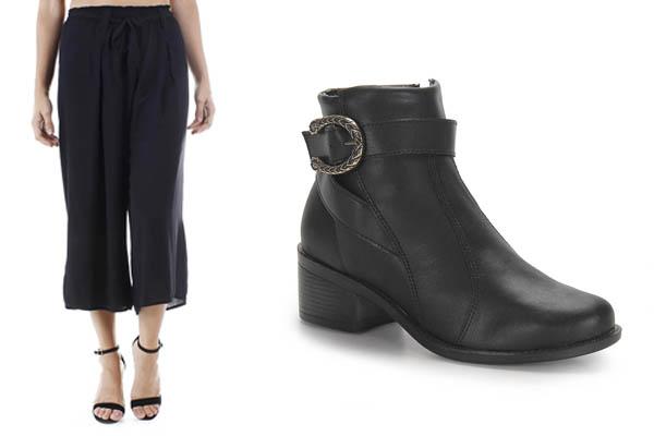 Pantacourt com Ankle Boots