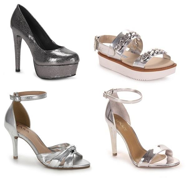 Calçados Metalizados